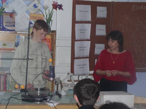 Шкільні фото досліди на уроці фізики